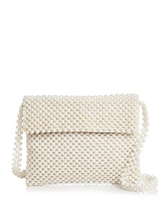 AQUA - Evie Faux Pearl Shoulder Bag - 100% Exclusive