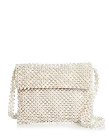 AQUA - Evie Faux Pearl Shoulder Bag - 100% Exclusive