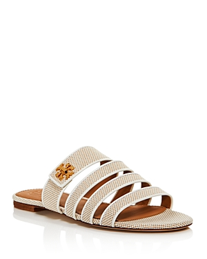 Tory Burch Slippers WOMEN'S KIRA MULTI-BAND SLIDE SANDALS