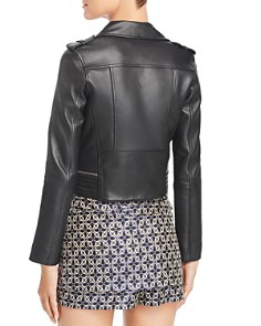 Maje - Basalt Leather Moto Jacket