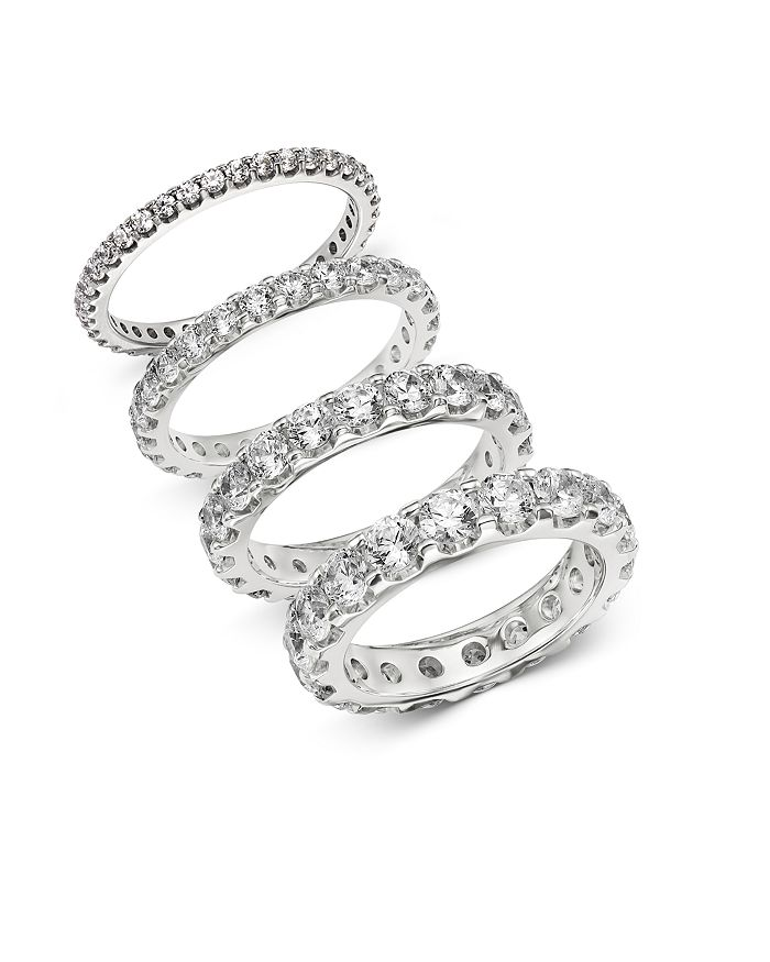 Bloomingdale's - Diamond Eternity Band in 14K White Gold