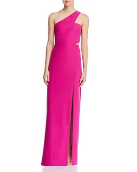 f9eb41a0bae Aidan by Aidan Mattox - One-Shoulder Crepe Cutout Gown - 100% Exclusive ...