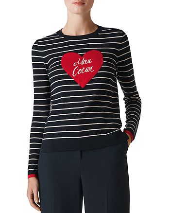 Whistles - Mon Coeur Striped Sweater