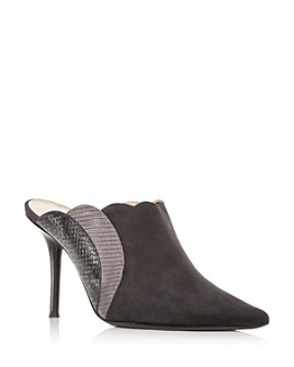 Chloé - Lauren Pointed-Toe High-Heel Mules