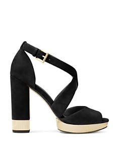 MICHAEL Michael Kors - Women's Valerie Metallic & Suede Platform Sandals