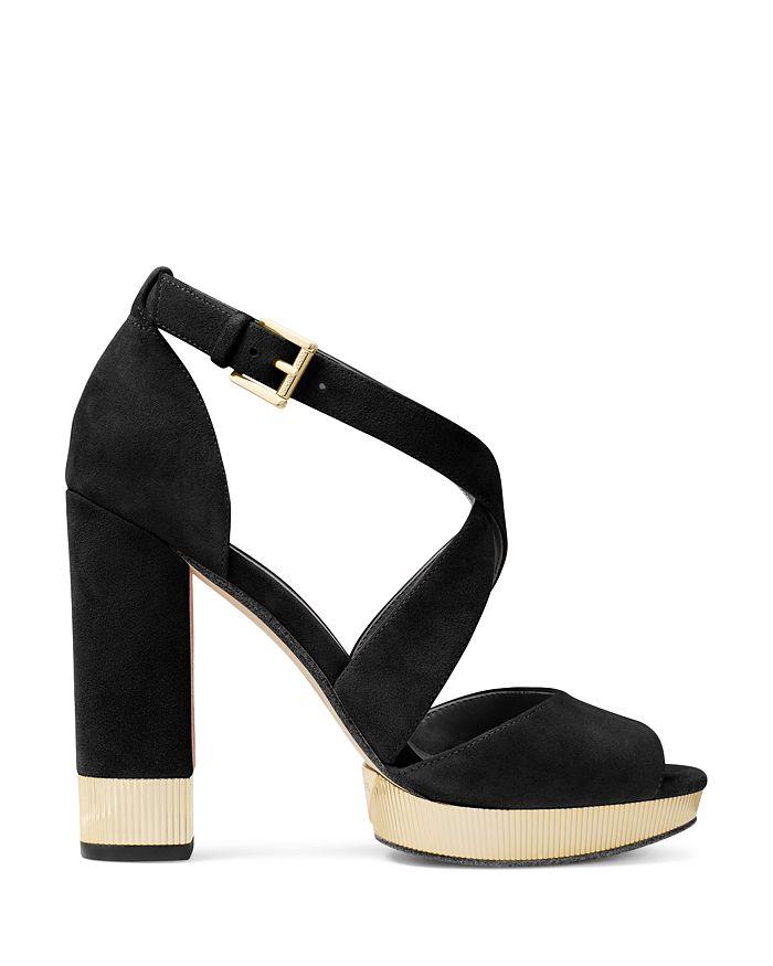11117fb16ea MICHAEL Michael Kors - Women s Valerie Metallic   Suede Platform Sandals
