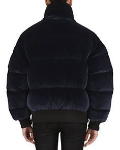 The Kooples - Velvet Quilted Puffer Jacket