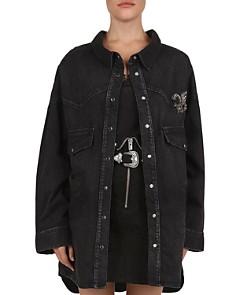The Kooples - Embellished Fleur-de-Lis Denim Shirt