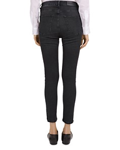 The Kooples - Franky Mid Rise Cropped Slim Jeans in Black