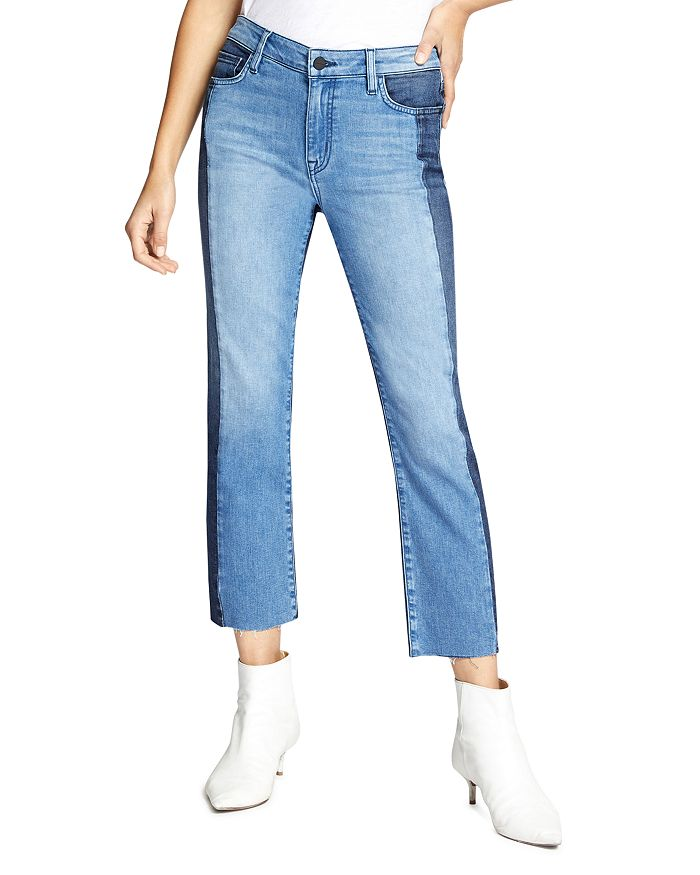 Sanctuary - Modern Color-Block Straight Jeans in Noho Arts