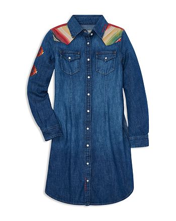 7901242691b Ralph Lauren - Girls  Southwestern Denim Dress - Big Kid