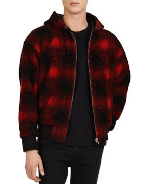 The Kooples Checked Sweatshirt-Style Jacket