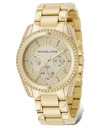 Michael Kors - Gold-Tone Chronograph Watch, 39mm
