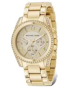 Michael Kors Gold-Tone Chronograph Watch, 39mm