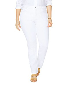 NYDJ Plus - Marilyn Straight-Leg Jeans in Optic White