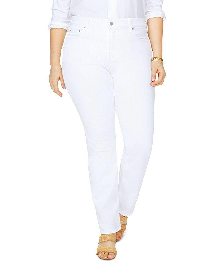 NYDJ Plus - Marilyn Straight-Leg Jeans in Optic White