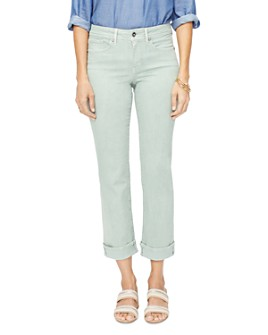 NYDJ - Marilyn Straight-Leg Cuffed Ankle Jeans in Desert Willow