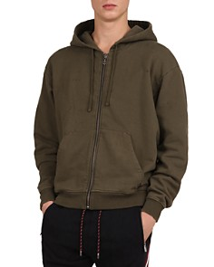 The Kooples - Destroyed Zip-Front Hooded Sweatshirt