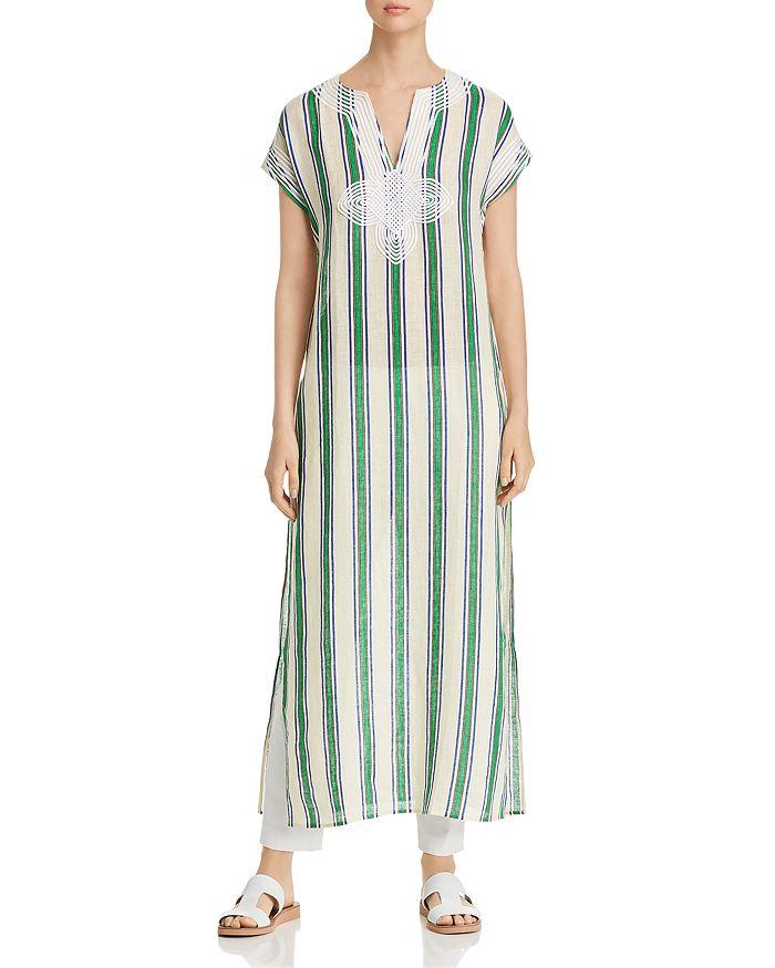 67cf11c0784 Tory Burch - Awning-Stripe Caftan Dress