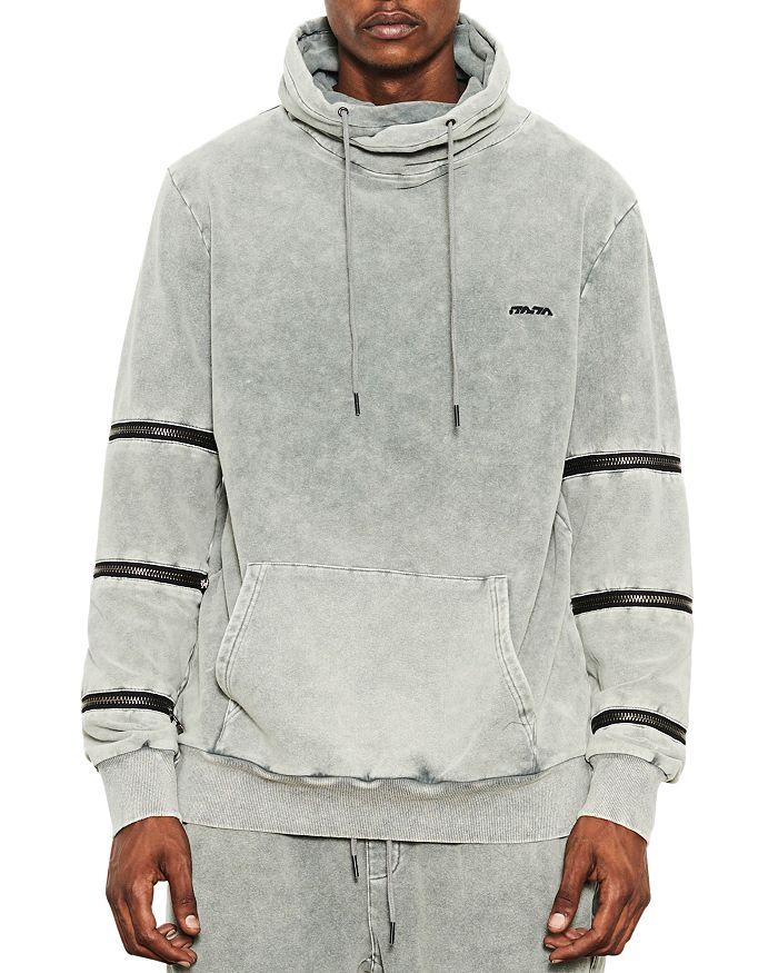 nANA jUDY - Zipper-Trimmed Funnel Neck Sweatshirt