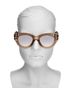 Tom Ford - Slater Mirrored Cat Eye Sunglasses, 51mm