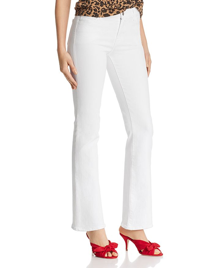 J Brand - Sallie Mid Rise Bootcut Jeans in Blanc