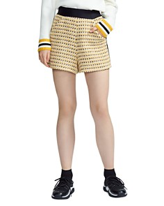 Maje - Isidore Tweed High-Waist Shorts