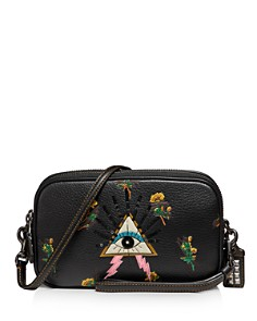COACH - Sadie Pyramid Eye Leather Crossbody