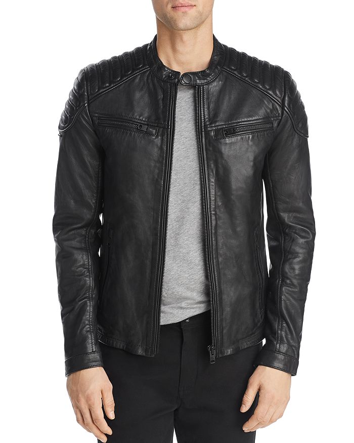 Superdry - New Hero Leather Racer Jacket