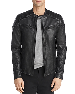 Superdry New Hero Leather Racer Jacket