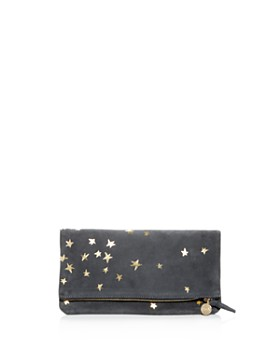 Clare V. - Stars Suede Foldover Clutch