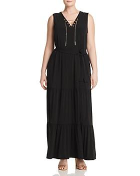 e864e1d96cb MICHAEL Michael Kors Plus - Chain Lace-Up Maxi Dress ...