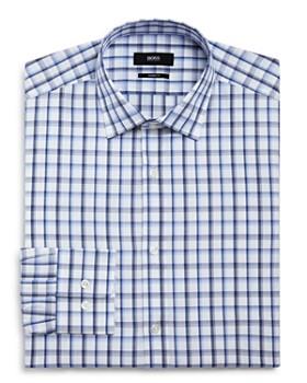 44643e4a2 BOSS - Bold Checked Regular Fit Dress Shirt ...