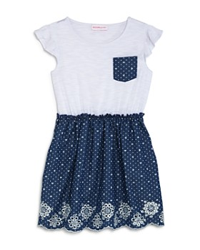 93e6e1ef5f812 Design History - Girls' Layered-Look Chambray Dress - Little Kid ...