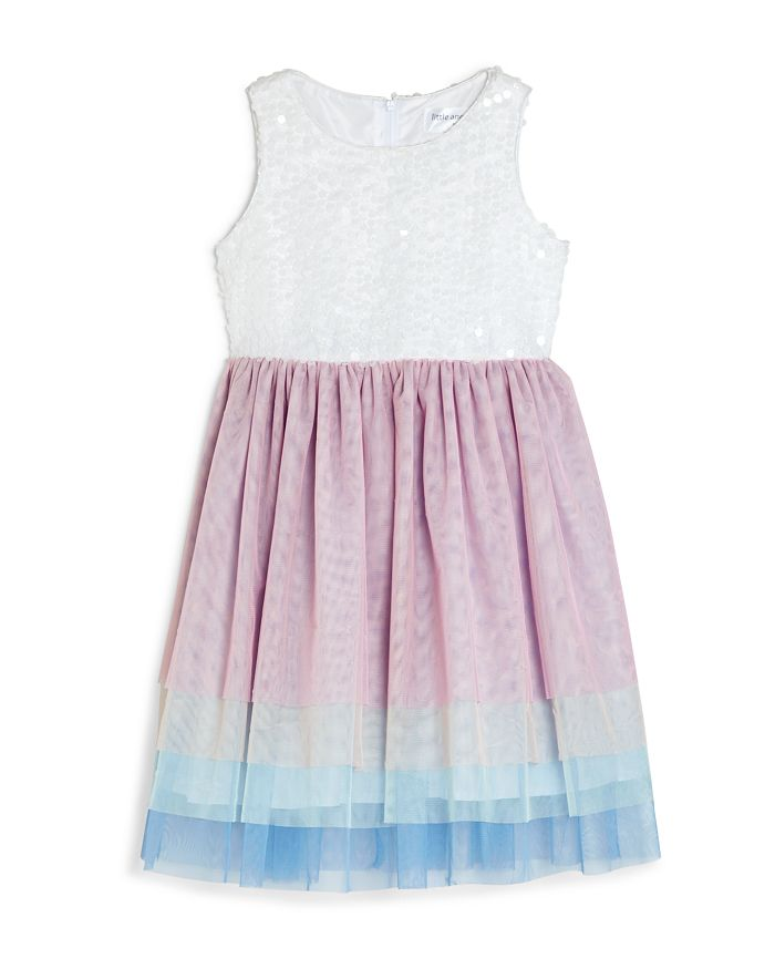 US Angels - Girls' Rainbow-Tier Fit-and-Flare Dress - Little Kid