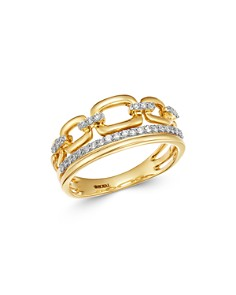Bloomingdale's - Pavé Diamond Link Band in 14K Yellow Gold, 0.25 ct. t.w. - 100% Exclusive