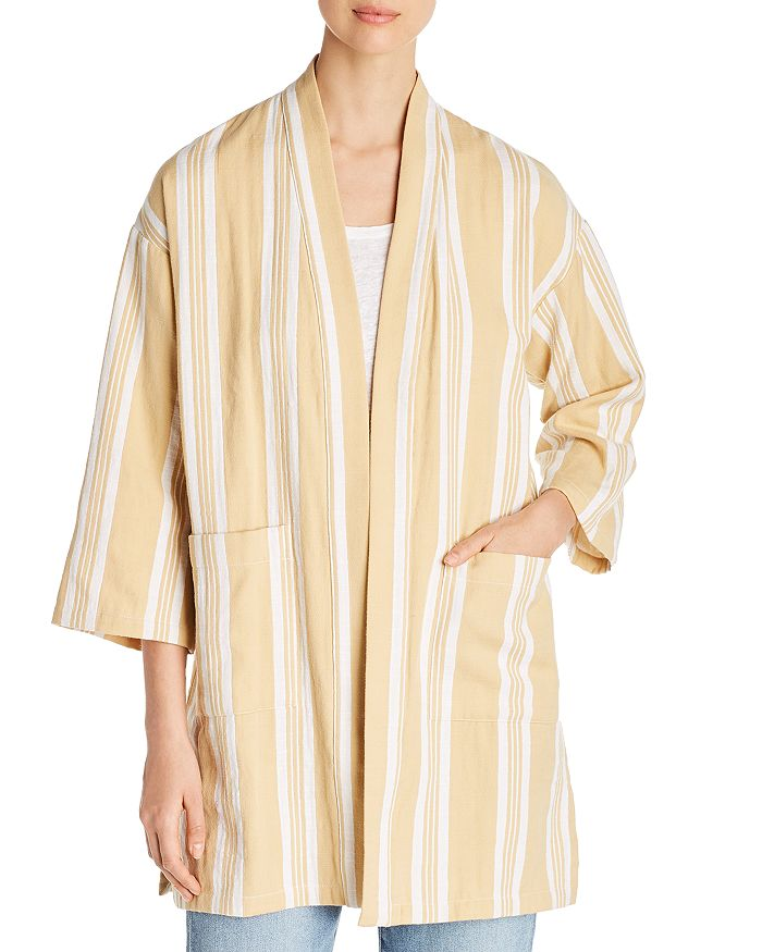 Eileen Fisher Petites - Organic-Cotton Striped Kimono Jacket