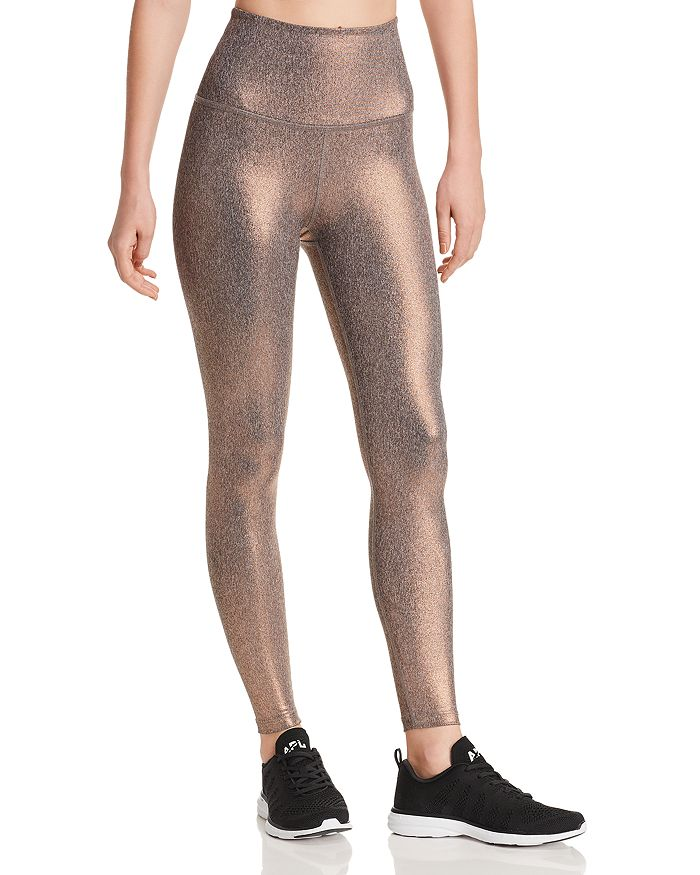 Beyond Yoga - Dusted High-Rise Metallic Leggings