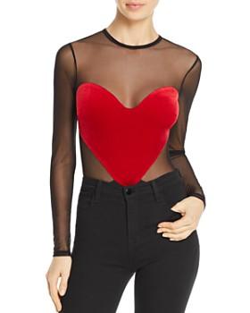 Thistle & Spire - Chauncy Velvet Heart Bodysuit