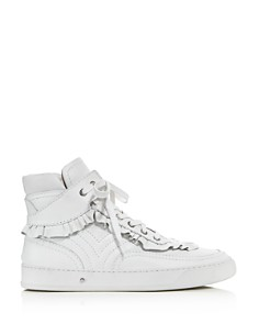 Laurence Dacade - Women's Lilou Ruffle Leather High Top Sneakers