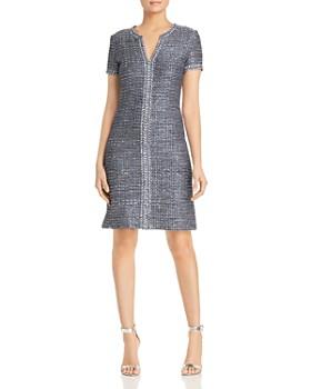 1f11a97c St. John - Camille Short-Sleeve Tweed Dress ...