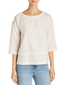 Eileen Fisher - Stitched Pinstripe Box Top