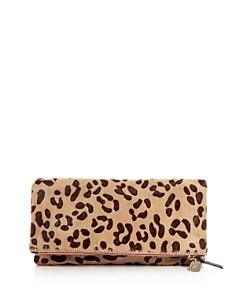 Clare V. - Leopard Print Calf Hair Foldover Clutch