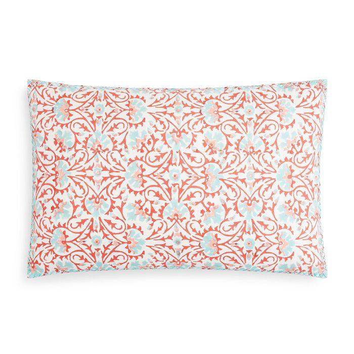"""John Robshaw - Tarana Coral Decorative Pillow, 12"""" x 18"""""""