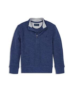 30d9a197aa297 Ralph Lauren - Boys  Cotton-Mesh Half-Zip Pullover - Little Kid ...