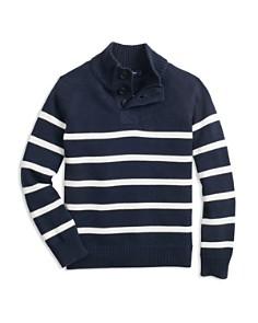 Brooks Brothers - Boys' Striped Half-Zip Sweater - Big Kid