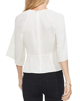 VINCE CAMUTO - Satin Tie-Front Blouse