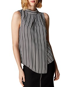KAREN MILLEN - Draped Striped Top