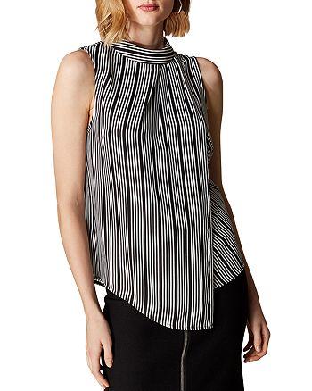 KAREN MILLEN - Draped Striped Top