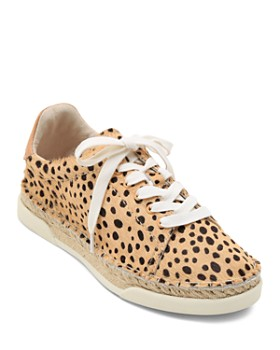 Dolce Vita - Women's Madox Leopard Print Calf Hair Lace-Up Sneakers
